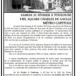 [Toulouse] Tract d'appel à la manifestation