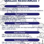 [Nantes] Programme de la semaine de résistances du 16 au 22 février 2015 (flyer)