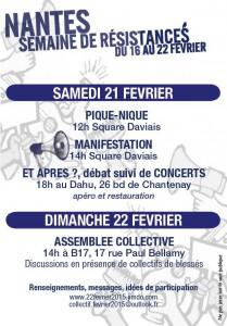 Semaine de résistances (Nantes) : samedi et dimanche